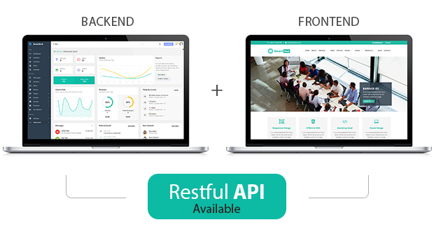 SmartEnd CMS - Laravel Admin Dashboard with Frontend and Restful API - 1